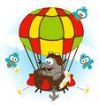 mole in balloon vector image vector image