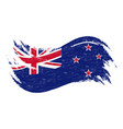 national flag of new zealand designed using brush vector image