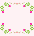 Painted floral greeting card Flower pattern vector image vector image