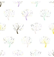 Pattern with colorful trees vector image vector image