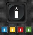 Plastic bottle with drink icon sign symbol Squared vector image