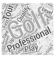 Professional Golf Word Cloud Concept vector image vector image