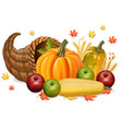 pumpkins and apples autumn fall harvest 3d vector image vector image