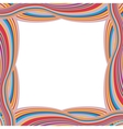 Retro Striped Frame with Colored Stripes vector image vector image