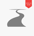 Road icon Flat design gray color symbol Modern UI vector image