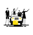 road trip - modern flat design style vector image vector image