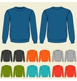 set colored sweatshirts templates for men vector image