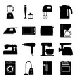 set of home electronics appliances vector image