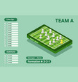 starting line up formation smartphone isometric vector image vector image