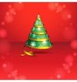 Stylized Ribbon Christmas Tree vector image vector image