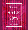 summer sale template watermelon texture vector image