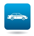 Taxi car icon in flat style