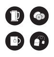 Tea icons set Black vector image vector image