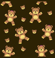 teddy bear seamless background vector image