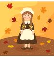 Thanksgiving Braid Girl Cartoon vector image vector image