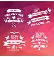 valentines day set symbols vector image