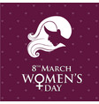 womens day typography card with dark background vector image