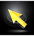 yellow directional arrow vector image vector image