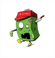 Zombie in a cap isolated on white vector image