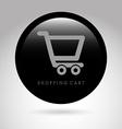 shopping cart design vector image