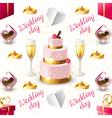 wedding seamless on white background vector image