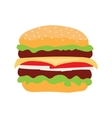 Cheeseburger fast food isolated icon vector image