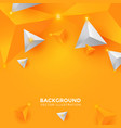 abstract shiny yellow and white triangle vector image vector image
