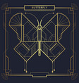 art deco geometric butterfly vector image vector image