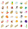 best drink icons set isometric style vector image vector image