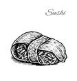 Black and white of sushi vector image vector image
