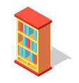 bookcase isometric vector image