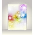 Business brochure template flower colorful design vector | Price: 1 Credit (USD $1)