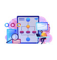 business process automation bpa concept vector image vector image