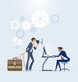 business training and consulting service vector image vector image