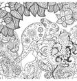 Chameleon in fantasy flowers vector image vector image