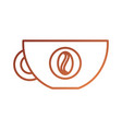 coffee cup beverage fresh aroma symbol vector image
