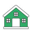 color silhouette image cartoon green facade vector image vector image