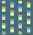 colorful present box with bow seamless pattern vector image vector image
