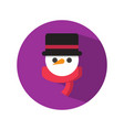 cute blackhat snowman vector image