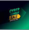 cyber monday sale and discount background design vector image