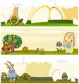 Easter Rabbit Banner Set vector image