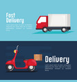free delivery set icons vector image