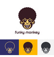 funky monkey logo template vector image
