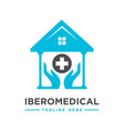 home health and hand logo vector image