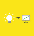 icon concept of glowing light bulb with sales vector image vector image