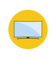 led smart curved tv icon vector image vector image