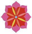 Lotus flower emblem design vector image vector image