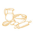 lour egg cooking vector image vector image