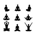 meditation2 vector image vector image