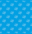 mother day pattern seamless blue vector image vector image
